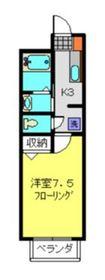 コーポナガイⅢ1階Fの間取り画像