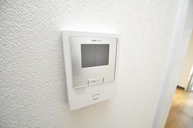 八千代ハイツ モニター付きインターフォンでセキュリティ対策もバッチリ。