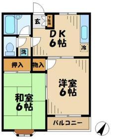 アルス1階Fの間取り画像