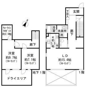 W-HOUSEⅢ1階Fの間取り画像