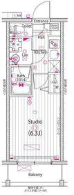 ガーラ・グランディ横浜鶴見11階Fの間取り画像