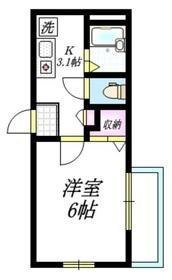 ヴィラクローネ2階Fの間取り画像