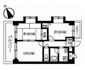 レジデンス二俣川第32階Fの間取り画像