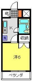 ヨコハマポートマンション3階Fの間取り画像