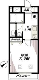 カナールサイド2階Fの間取り画像