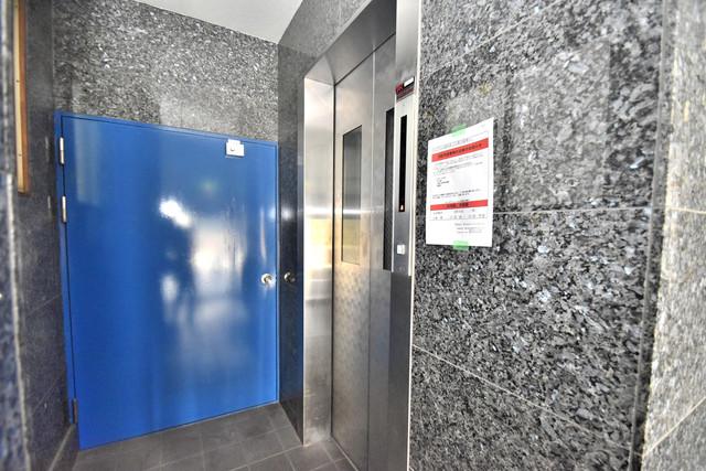 プレアール舎利寺 嬉しい事にエレベーターがあります。重い荷物を持っていても安心