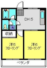 菊名駅 徒歩19分2階Fの間取り画像