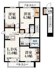 新小金井駅 徒歩10分2階Fの間取り画像