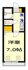 SAKURAハイム2階Fの間取り画像
