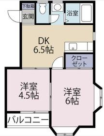 ライフピアモア京町4階Fの間取り画像