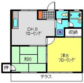 日吉本町駅 徒歩19分1階Fの間取り画像
