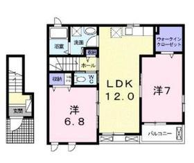 フォンターナⅠ2階Fの間取り画像