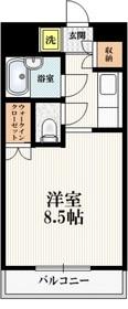 戸田公園ステイタス3階Fの間取り画像