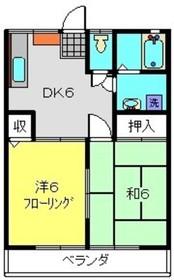 エステートYASUI A2階Fの間取り画像