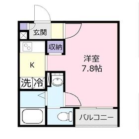 フラップアリィ上福岡1階Fの間取り画像