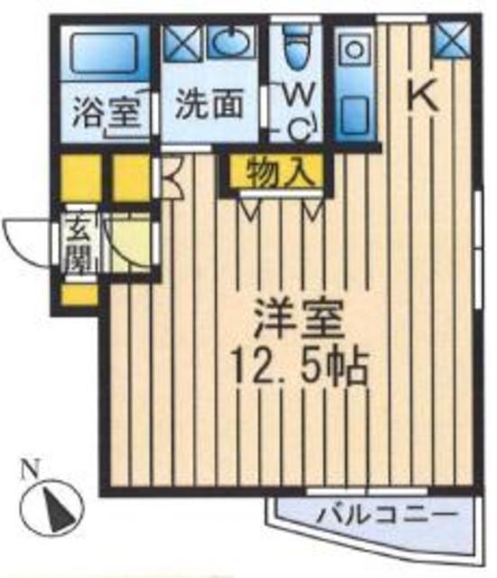 南新宿駅 徒歩3分間取図