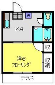 ザ・ハイツトミオカ1階Fの間取り画像