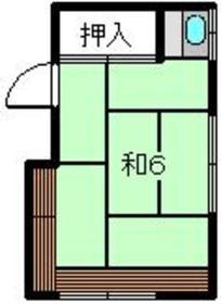 綱島駅 徒歩9分2階Fの間取り画像