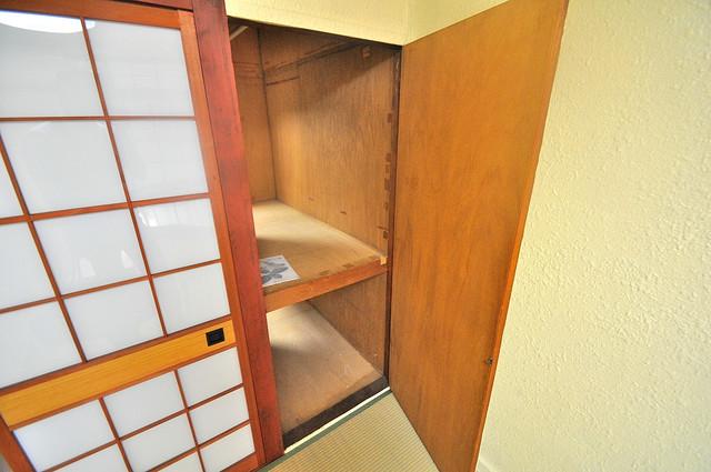 長栄寺第5コープ もちろん収納スペースも確保。おかげでお部屋の中がスッキリ。