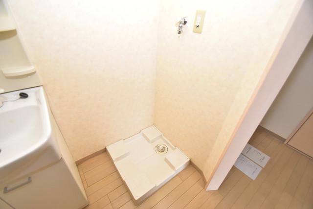 カインド高井田 嬉しい室内洗濯機置場。これで洗濯機も長持ちしますね。