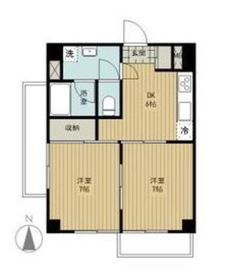 コートハイム横浜4階Fの間取り画像