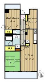 橋本南パーク・ホームズ3階Fの間取り画像