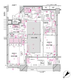 オーパスレジデンス銀座イースト6階Fの間取り画像