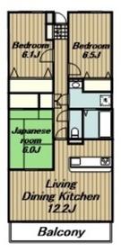 本厚木駅 徒歩15分2階Fの間取り画像