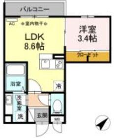 ハイム羽沢横浜国大 113階Fの間取り画像