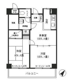 コシノパークサイドビル10階Fの間取り画像