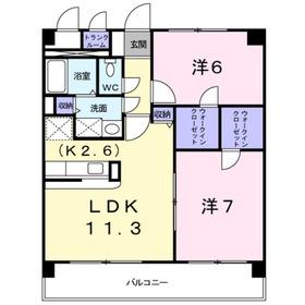 テラスH&A2階Fの間取り画像
