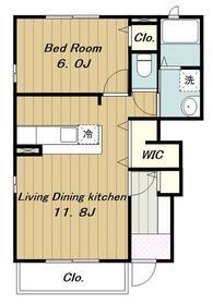 ブルンネン・ハオス1階Fの間取り画像