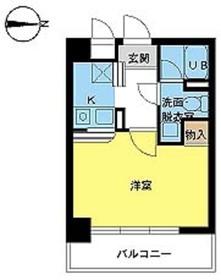 スカイコート新高円寺8階Fの間取り画像