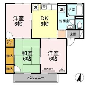 ハッピネス三宅 B2階Fの間取り画像