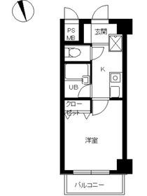 スカイコート蒲田駅前5階Fの間取り画像