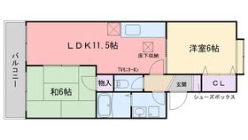 セジュールYOKOHAMA1階Fの間取り画像