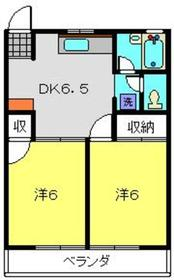 すずきハイツC棟2階Fの間取り画像