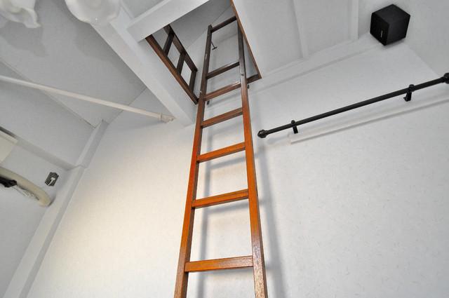 メロディーハイム小阪 ロフトへのはしごついてます。なくてはならないものです。