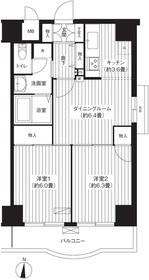 錦糸パーク・ヤマト7階Fの間取り画像