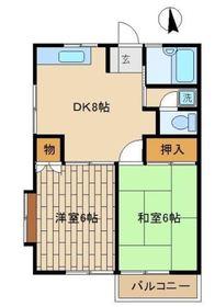 メゾン佐藤A2階Fの間取り画像