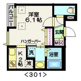 アプローズ3階Fの間取り画像