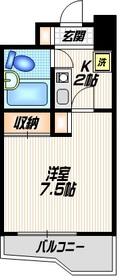 アンビエンス世田谷7階Fの間取り画像