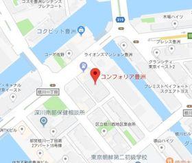 豊洲駅 徒歩9分案内図