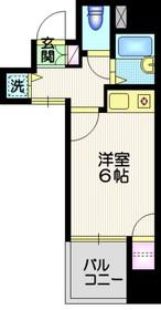 ジョイシティ品川12階Fの間取り画像