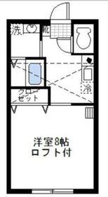 キューブハウス2階Fの間取り画像