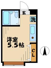 サンライズマンション3階Fの間取り画像