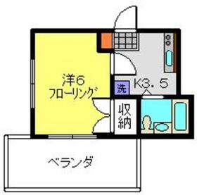 高田西マンション2階Fの間取り画像