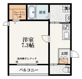 立川駅 徒歩11分2階Fの間取り画像
