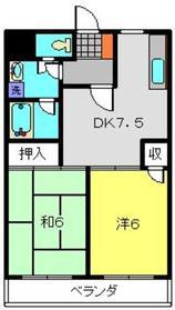上大岡グリーンハイツD棟1階Fの間取り画像