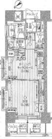 アール・ケープラザ新横浜III4階Fの間取り画像